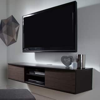 unusual solid wood media cabinet. South Shore Agora 56 inch Wall Mounted Media Console  More options available TV Stands For Less Overstock com