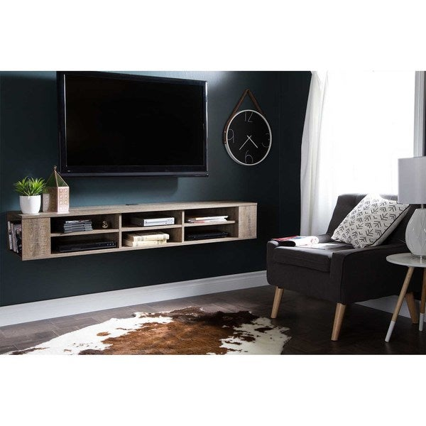 South Shore City Life 66 Inch Wall Mounted Media Console