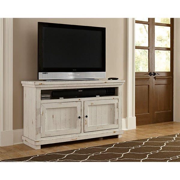 Shop Willow Distressed White Entertainment Collection