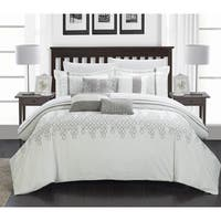 Chic Home Laurie Embroidered Oversized Overfilled 12-piece Bed in a Bag Set