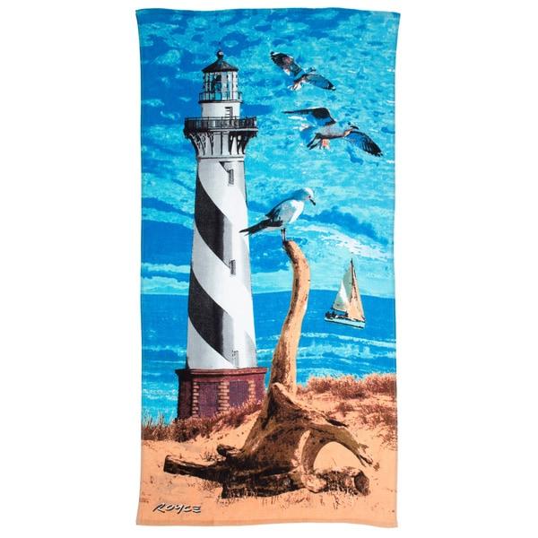 Light House Printed Beach Towel (Set of 2)