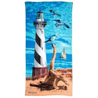 Light House Printed Beach Towel (Set of 2)