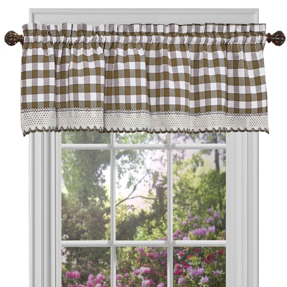Shop Classic Buffalo Check Window Panels and Valances - 10344015