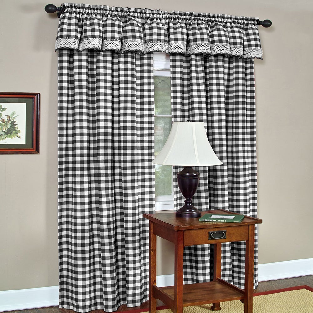 Shop Classic Buffalo Check Window Panels and Valances - 10344025