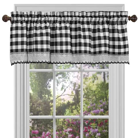Classic Buffalo Check Window Panels and Valances