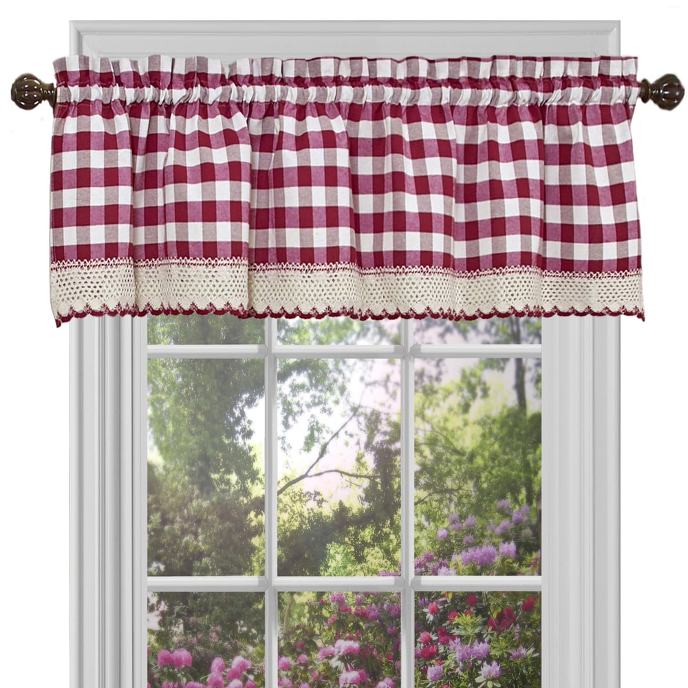 Shop Classic Buffalo Check Window Panel or Valance - 10344027