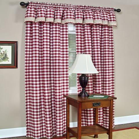 Classic Buffalo Check Window Panel or Valance