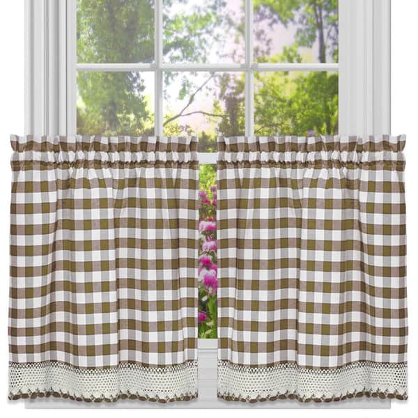 Classic Buffalo Check Kitchen Curtains Overstock 10344046