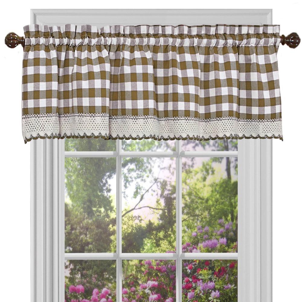 Shop Classic Buffalo Check Kitchen Curtains - 10344046
