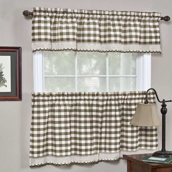 Shop Classic Buffalo Check Kitchen Curtains On Sale Free