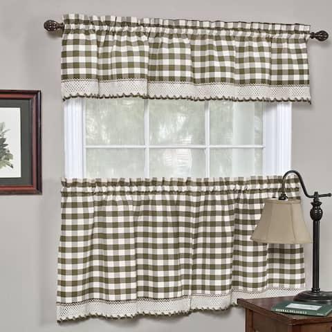 Classic Buffalo Check Kitchen Curtains