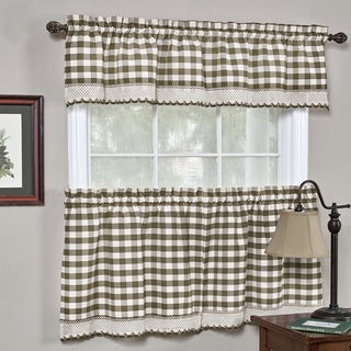Classic Buffalo Check Kitchen Curtains