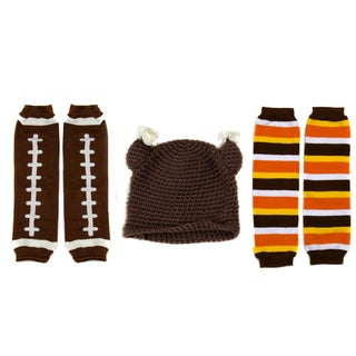 Crummy Bunny Little Kid Thanksgiving Leggings and Turkey Hat Set (Ages 2- 4)