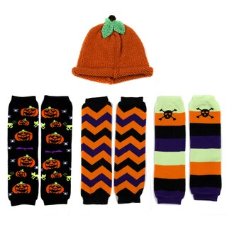 Crummy Bunny Children's Halloween Leggings and Pumpkin Hat Set