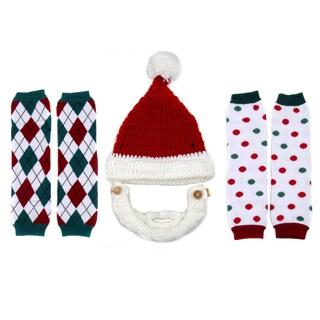 Crummy Bunny Children's Christmas Leggings and Santa Beard Hat Set