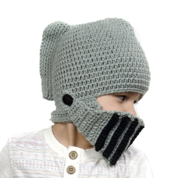 Shop Crummy Bunny Children s Hand-knit Knight Helmet Hat - On Sale - Free  Shipping On Orders Over  45 - Overstock.com - 10344058 4dfa2fcabda