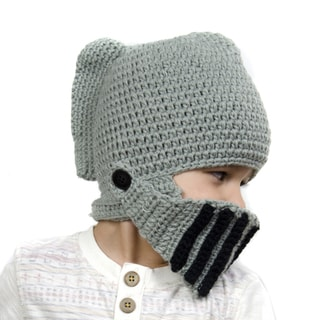 Crummy Bunny Children's Hand-knit Knight Helmet Hat