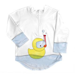 Crummy Bunny Toddler Rashguard Protective Sun and Swim Top Rubber Ducky UPF 50+ (2T)|https://ak1.ostkcdn.com/images/products/10344059/P17453232.jpg?impolicy=medium