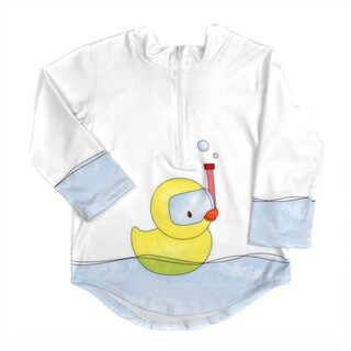 Crummy Bunny Toddler Rashguard Protective Sun and Swim Top Rubber Ducky UPF 50+ (2T)