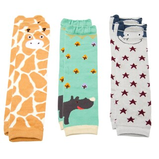 Crummy Bunny Safari Animals Leg Warmers (Set of 3)