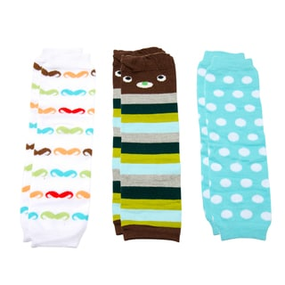 Crummy Bunny Boys' Mustache Leg Warmers (Set of 3)
