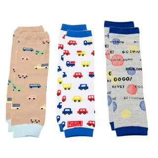 Crummy Bunny Boys' Cars and Trucks Leg Warmers (Set of 3)