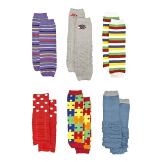 Crummy Bunny Colorful Baby Leg Warmers (Set of 6)