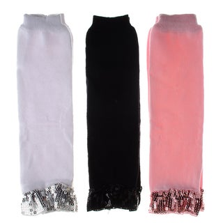 Crummy Bunny Baby Sparkly Pink Leg Warmers (Set of 3)