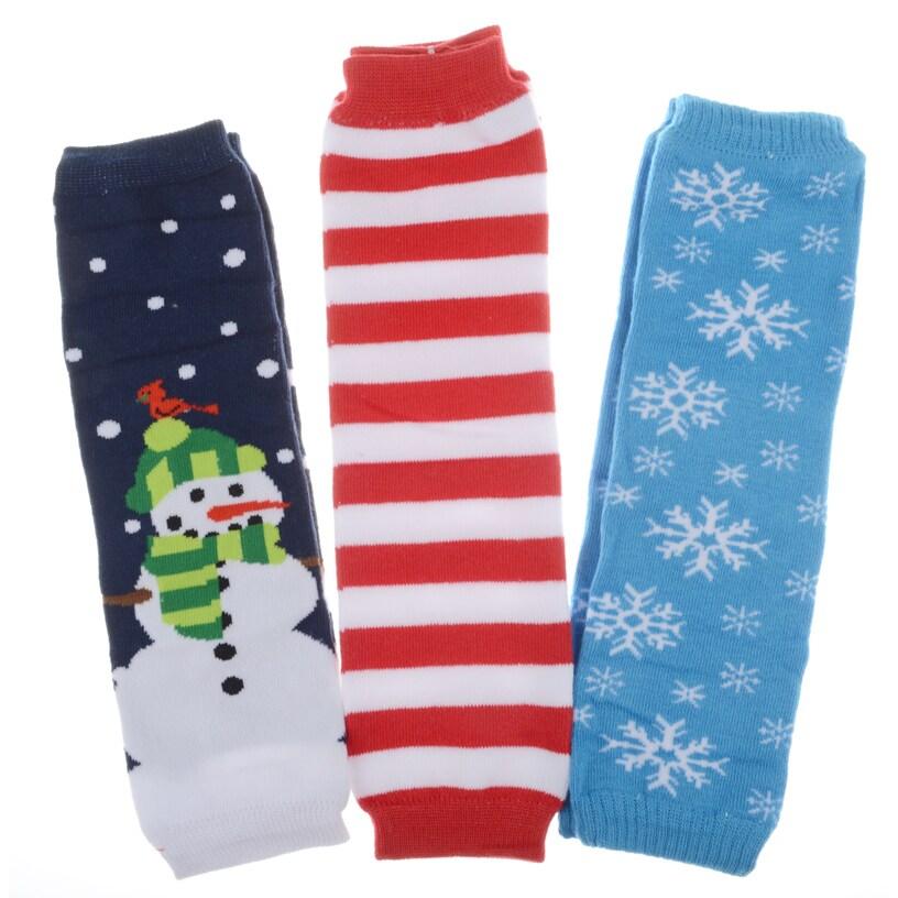 Crummy Bunny Christmas Baby Leg Warmers (Set of 3) (Snowm...
