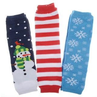 Crummy Bunny Christmas Baby Leg Warmers (Set of 3)