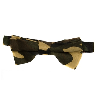 Crummy Bunny Boys' Adjustable Pre-tied Camoflauge Bow Tie