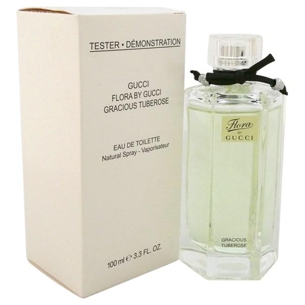 f43b5a18ed3 Shop Gucci Flora Gracious Tuberose Women s 3.3-ounce Eau de Toilette Spray  (Tester) - Free Shipping Today - Overstock - 10344135