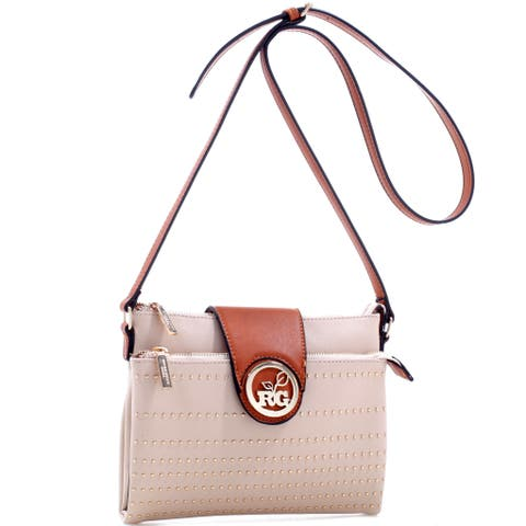 Realtree Girl Studded Multi-Functional Logo Emblem Crossbody Bag