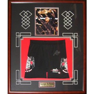 Autographed Georges St-Pierre Noir Trunks