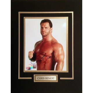 Framed 8x10 - Autographed by WWE's Infamous Chris Benoit
