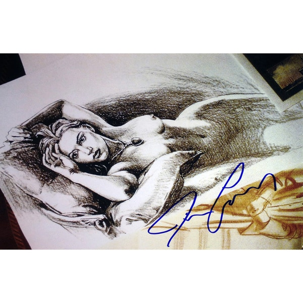 Titanic - Jack's 'Drawing' - Autographed by James Cameron