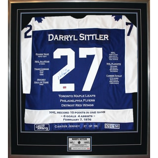 Darryl Sittler Framed Career Jersey