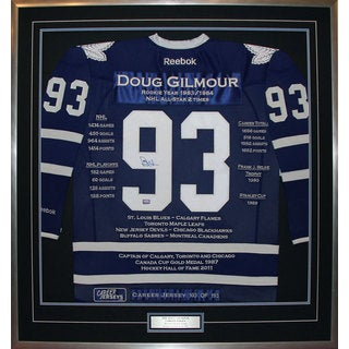Doug Gilmour Framed Career Jersey