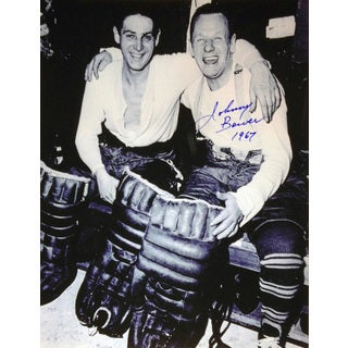 Johnny Bower and Terry Sawchuck Signed 8X10 Photograph - Toronto Maple Leafs