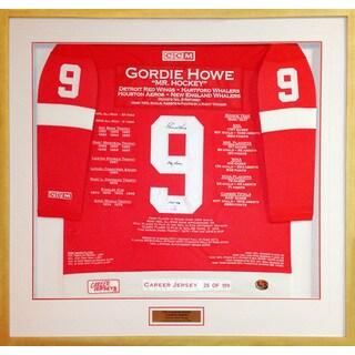 Gordie Howe Framed Career Jersey