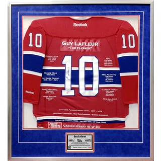 Guy Lafleur Framed Career Jersey