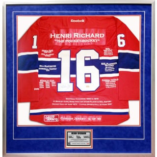 Henri Richard Framed Career Jersey
