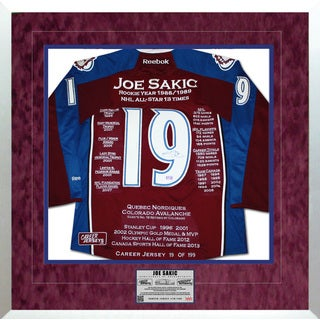 Joe Sakic Framed Career Jersey