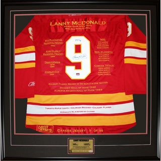 Lanny McDonald Framed Career Jersey