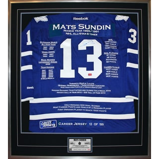 Mats Sundin Framed Career Jersey