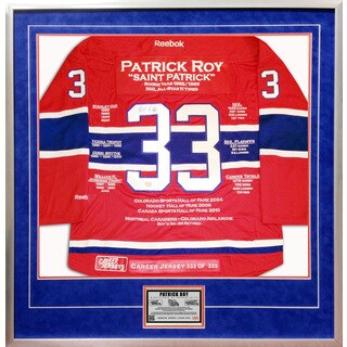 Patrick Roy Framed Career Jersey