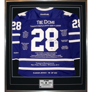 Tie Domi Framed Career Jersey