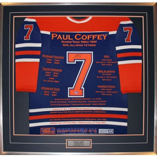 Paul Coffey Framed Career Jersey