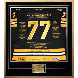 Ray Bourque Framed Career Jersey