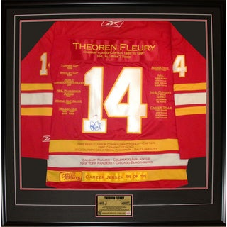 Theoren Fleury Framed Career Jersey